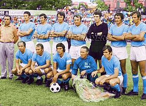 S.S.C. Napoli - Napoli at the start of the 1970s with Dino Zoff, José Altafini, and others.