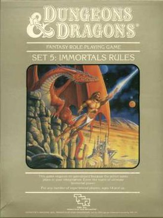 Dungeons & Dragons Immortals Rules - Image: TSR1017 Dungeons & Dragons Set 5 Immortal