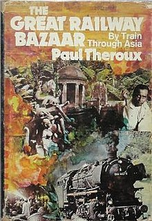 Cover art for the novel, The Great Railway Bazaar