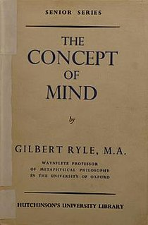 <i>The Concept of Mind</i> book by Gilbert Ryle