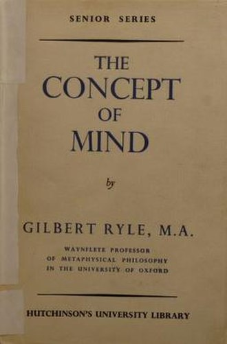 The Concept of Mind - Cover of the first edition