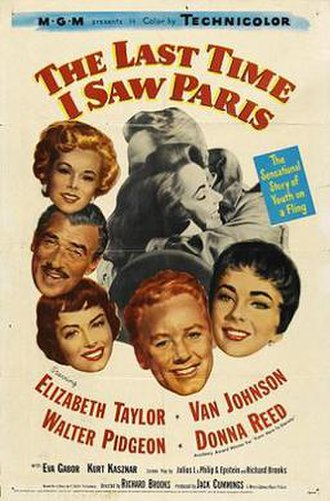The Last Time I Saw Paris - Theatrical release poster