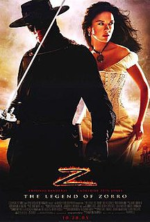 "<i>The Legend of Zorro</i> 2005 swashbuckler film and sequel to ""The Mask of Zorro"" directed by Martin Campbell"