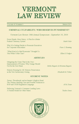 Vermont Law Review - Image: Vermont Law Review Masthead thumbnail