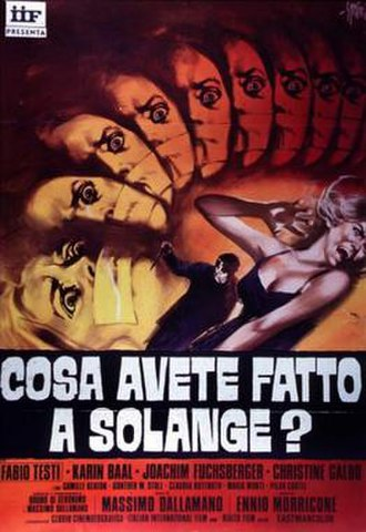 What Have You Done to Solange? - Italian film poster for What Have You Done to Solange?