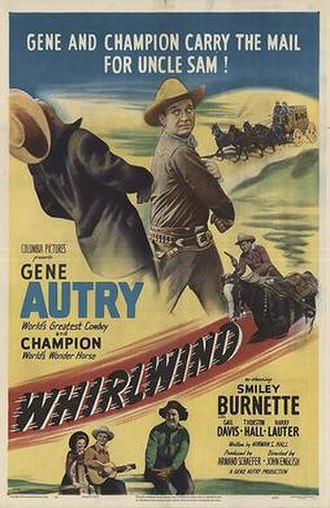 Whirlwind (1951 film) - Theatrical release poster