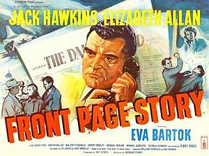 Front Page Story - British theatrical poster