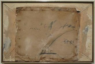 Antoni Tàpies - Canvas Burned to Matter by Antoni Tàpies, c. 1960, Honolulu Museum of Art