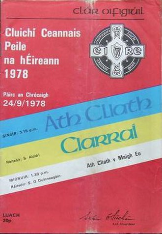 1978 All-Ireland Senior Football Championship Final - Image: 1978 All Ireland Senior Football Championship Final Programme