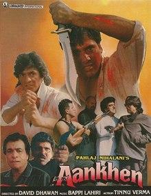 Aankhen (1993) SL DM - Govinda Chunky Pandey Raj Babbar, Bindu, Shilpa Shirodkar, Raageshwari, Kader Khan, Gulshan Grover, Shakti Kapoor, Sadashiv Amrapurkar, Harish Patel, Dina Pathak