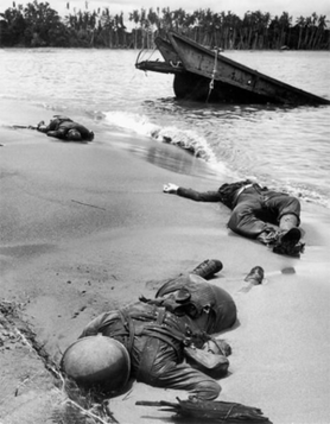 128th Infantry Regiment (United States) - Dead American GIs of the 128th Infantry Regiment at Buna Beach