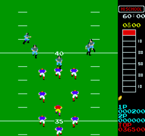 10-Yard Fight - Screenshot of 10-Yard Fight (arcade version)