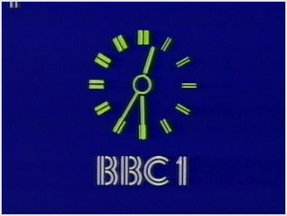 Clock ident Time display on TV