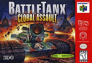 BattleTanx: Global Assault - North American Nintendo 64 cover art
