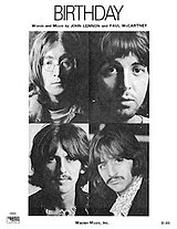Birthday (Beatles song) - Wikipedia