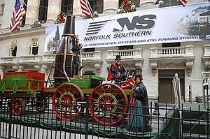 Best Friend of Charleston - The Best Friend replica outside the New York Stock Exchange on December 12, 2005.