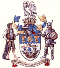 The arms of Cleethorpes Borough Council