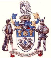 La armiloj de Cleethorpes Borough Council