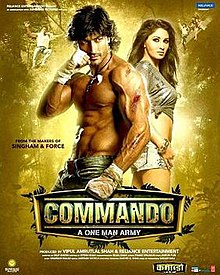 Commando A One Man Army 2013 Hindi 720p 900MB DVDRip ESubs MKV