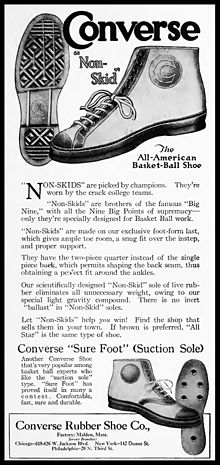 ad03024598e Chuck Taylor All-Stars - Ad from 1920 for the forerunner of the Chuck Taylor