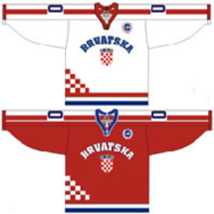 Croatia men's national ice hockey team - Image: Croatia national ice hockey team Home & Away Jerseys