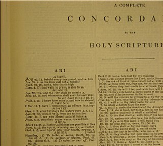 <i>Crudens Concordance</i> A verbal index to the King James Bible created by Alexander Cruden