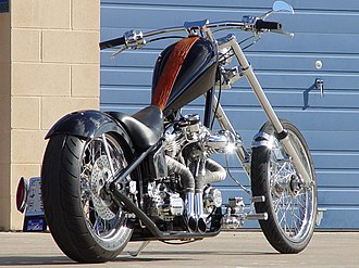 "Chopper (motorcycle) - Santee ""Hardcore II"" Custom rigid chopper"