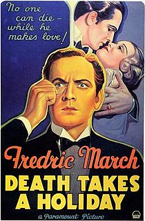 <i>Death Takes a Holiday</i> 1934 US pre-Code romantic drama film by Mitchell Leisen