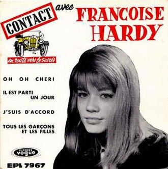 Tous les garçons et les filles - Image: F. Hardy, 1th EP Vogue 1962