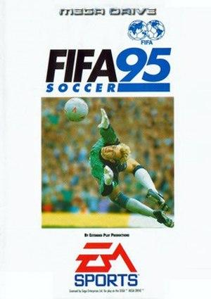 FIFA Soccer 95 - European box art, featuring Erik Thorstvedt