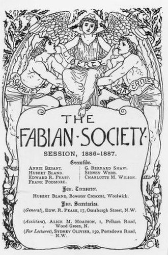 Ethical movement - The Fabian Society was an outgrowth from the Fellowship of the New Life.