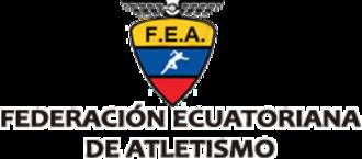Ecuadorian Athletics Federation - Image: Federación Ecuatoriana de Atletismo Logo