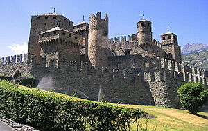 Aosta Valley - The Fénis Castle, 13th century