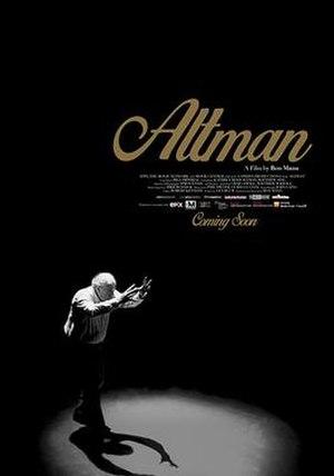 Altman (film) - Image: Film Poster for Altman