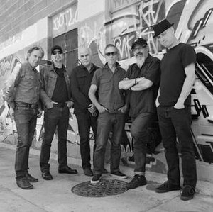 The Flesh Eaters - 1980; L-R: Chris D, DJ Bonebrake, Dave Alvin, John Doe, Steve Berlin, Bill Bateman.