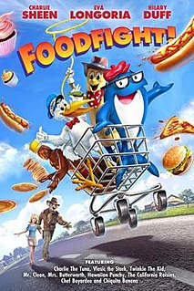 <i>Foodfight!</i> 2012 animated film about a grocery store directed by Lawrence Kasanoff