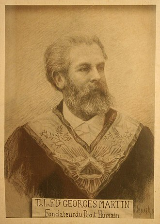 Co-Freemasonry - Georges Martin, co-founder of Co-Freemasonry, Le Droit Humain.