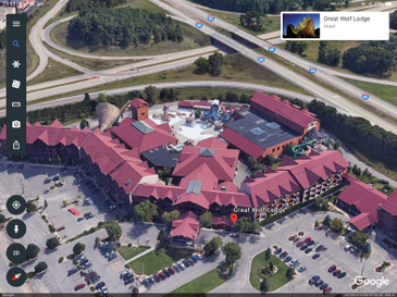 Google Earth (iOS) - 3D Mode at Wisconsin Dells Great Wolf Lodge