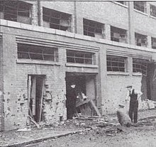 Bomb damage of Gwladys Street stand