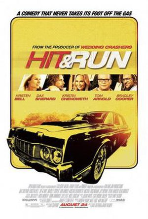 Hit and Run (2012 film) - Theatrical release poster