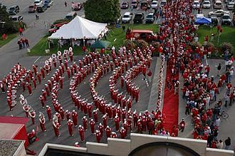 Indiana University Marching Hundred - Concert arcs during The Walk and PowerPlay!