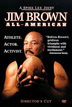 Jim Brown: All-American - The DVD cover for Jim Brown: All-American.