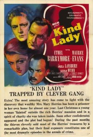 Kind Lady (1951 film) - Theatrical release poster