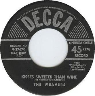 Kisses Sweeter than Wine - Image: Kisses Sweeter Than Wine Weavers 45