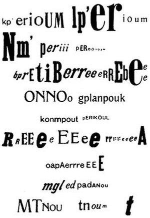 Raoul Hausmann - The phoneme kp' erioUM 1919
