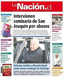 Front page of La Nación's penultimate number, on 16 December 2010 (the final number was published three days later, on 19 December 2010).