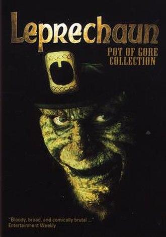 Leprechaun (film series) - The Leprechaun as depicted on the cover of the DVD box Leprechaun Pot of Gore Collection