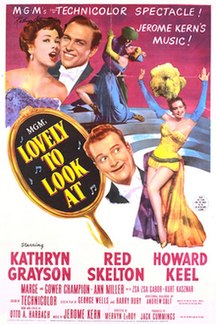 <i>Lovely to Look At</i> 1952 MGM musical film directed by Mervyn LeRoy
