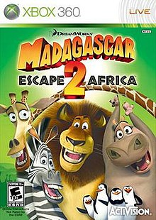 Madagascar Escape 2 Africa (video game) cover.jpg