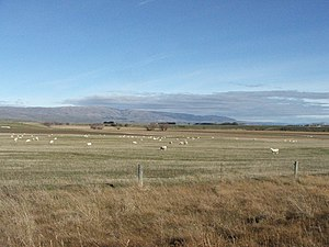 Strath Taieri - A view of the neighbouring Maniototo Plain. Looking southwest towards Rough Ridge from near Ranfurly